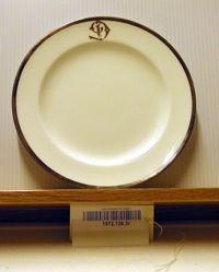 18 Desert Plates : Silver Mounted Dinner Service