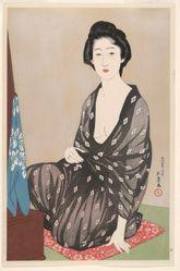 Woman in a Summer Kimono