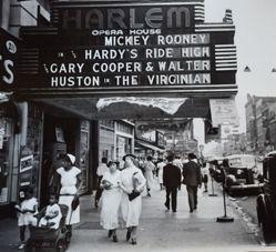 Harlem movie marquee