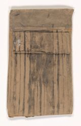 James Castle, Untitled [Wall section with striped wallpaper]