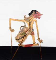 Shadow Puppet (Wayang Kulit) of Cakil, from the consecrated set Kyai Nugroho