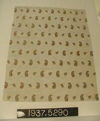 Piece of brocaded plain cloth