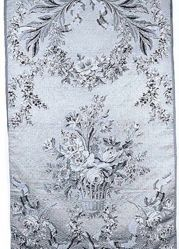 Reproduction of 18 century compound cloth, brocaded