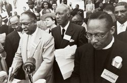 A. Philip Randolph (center) and Reverend Thomas J. Kilgore, Jr. (right), from the series Prayer Pilgrimage for Freedom