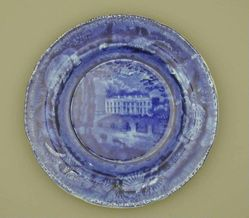 Plate with view of Washington, White House