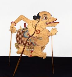Shadow Puppet (Wayang Kulit) of Togog, from the consecrated set Kyai Nugroho