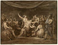 Achilles Swears an Oath to Avenge the Dead Patroclus, Killed by Hector