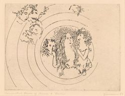 Richard Claude Ziemann, Concentric Lives of Anna and Levin, 5th of a suite of 9 illustrations to Leo Tolstoy's Anna Karenina