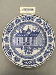 Plate with view of Yale College