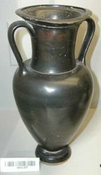 Black-glazed amphora