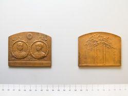 Bronze Medal of Japanese Marriage between Crown Prince Yoshihito and Kujo- Sadako