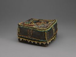 Basket with Beaded Lid