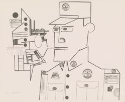 Saul Steinberg, The General, from Peace Portfolio I