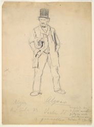 Sketch of a Tramp (recto); Woman and Two Infants (verso)