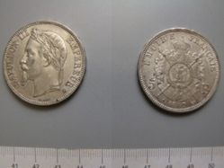 5 Francs from Strasbourg with Napoleon III