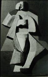 "Photograph of Alexander Archipenko's ""Sculpto-peinture: Femme debout,"" 1920 [Phillips Collection] -- from Katherine S. Dreier's private collection"