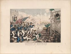 Battle of Monterey / The Americans forcing their way to the main plaza, Sept. 23rd 1846