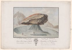 La grosse pierre sur le glacier de Vorderaar (The great stone on the glacier of Vorderaar)