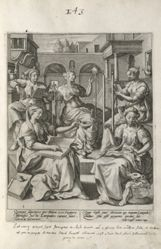 The Wise Virgins at Various Occupations, pl. 1 of 8 from the series Parable of the Five Wise and Foolish Virgins