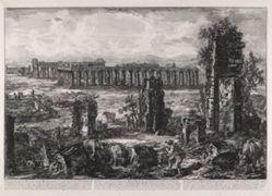 Vuë de ce qui reste encore des Murs A. de l' ancienne Ville de Pesto . . .  (View Showing the Remains of the Ancient City Walls A. of Paestum . . . ),  from Différentes vues de . . . Pesto (Different Views of . . .  Paestum)