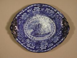 Tureen undertray with the Arms of Connecticut
