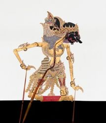 Shadow Puppet (Wayang Kulit) of Gandamana, from the consecrated set Kyai Nugroho