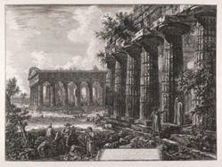Vue de quelques unes des colonnes de la façade opposée à celle de la planche précédente . . . (Views of Some Columns of the Façade Opposite the One Shown in the Preceding Plate . . . ), from Différentes vues de . . . Pesto (Different Views of . . . Paestum)