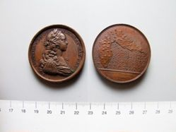 Bronze Medal from France of Louis XV- Guadalupe Fortified