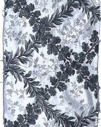 Reproduction of 18 century compournd satin, brocaded