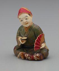Seated Jester (Taikomochi) Drinking