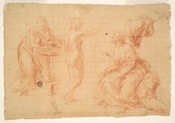 "Studies for ""Hercules at the Crossroads"" and for the ""Nativity"""