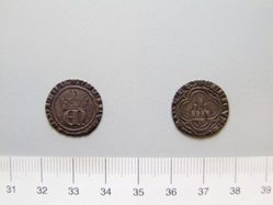 Silver half-real of Henry II from Burgos