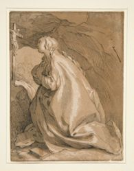 Saint Mary Magdalen in the Cave Facing Left