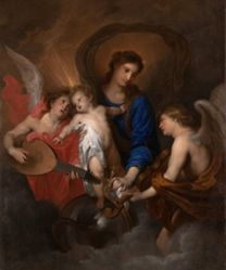 Virgin and Child with Music-Making Angels