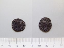 Silver denier of John II from Brittany