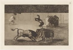 Otra locura suya en la misma plaza (Another Madness of his in the Same Ring), Plate 19 from La tauromaquia