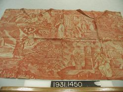 """Length of printed cotton, """"Scene from a Romance"""""""