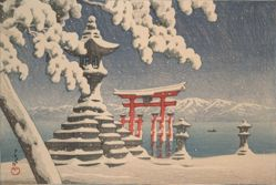Itsukushima in Snow
