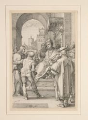 Christ Before Pilate, from The Passion, #5 in a series of 12 engravings