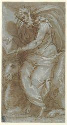 St. Luke, study for the Cappella del Palio, Palazzo della Cancelleria, Rome