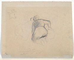 Woman Kneeling (recto); Two Farm Women Kneeling (verso)