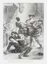 Mort d'Hamlet (Act. V. Sc. II) (Death of Hamlet), from Shakespeare's Hamlet