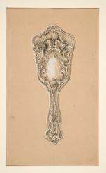 Design for handmirror, International Silver Co., Meriden, CT