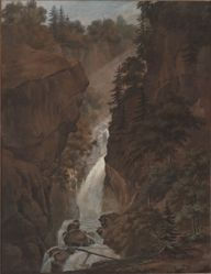 Landscape with Waterfall - (more distant view)