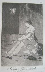 Por que fue sensible. (Because She was Sensible.), pl. 32 from the series Los caprichos