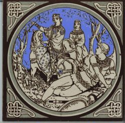 "One of a set of Minton tiles: ""Etarre"""