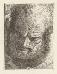 Old Man Looking Downwards, from the Raccolta di Teste (Collection of Heads)