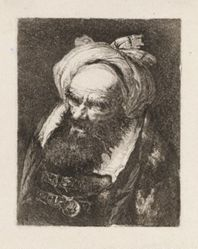 Turbaned, Bearded Elderly Man, from the Raccolta di Teste (Collection of Heads)