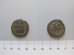 1/2 Follis (20 Nummi) of Justin II, Emperor of Byzantium from Cyzicus