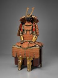 Orange-laced Domaru-type Suit of Armor